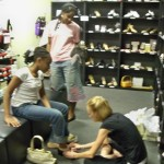 Dawn Grace and Camillle get fitted for new tap shoes