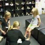 Kristen gets fitted for new dance shoes